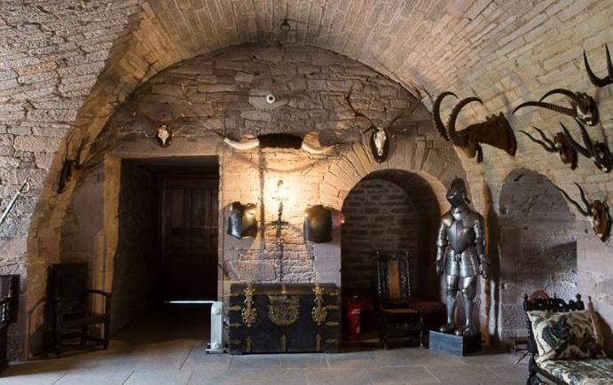 glamis castle scozia, cripta