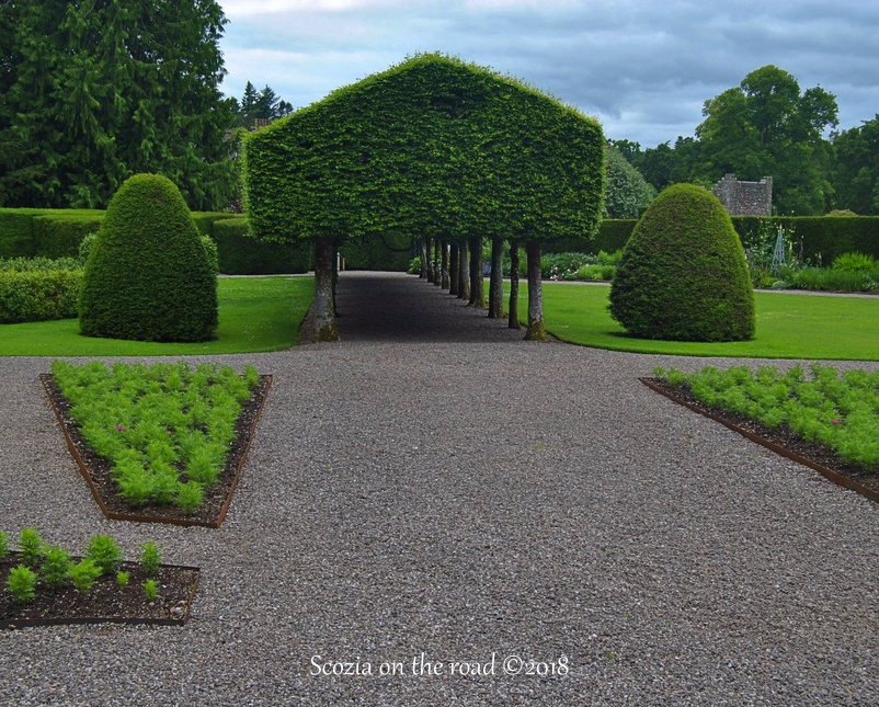 glamis castle, giardini