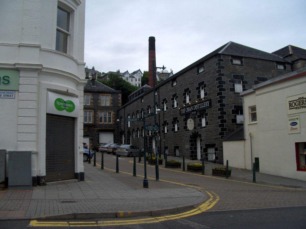 oban strada cittadina e distilleria