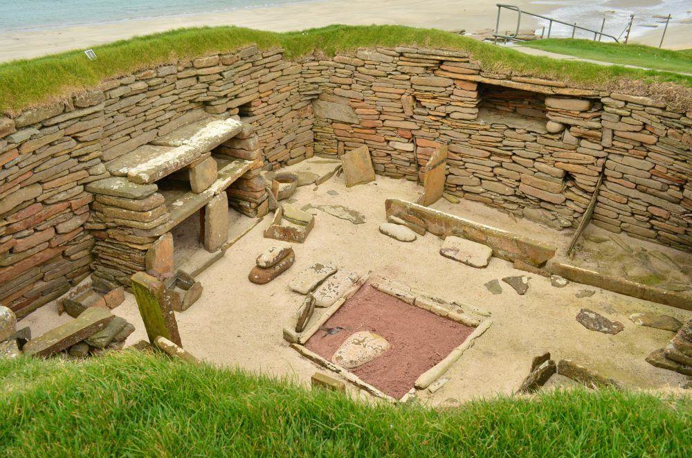 scara brae, interno di sito archeologico