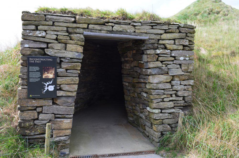 casa neolitica ricostruita, orcadi