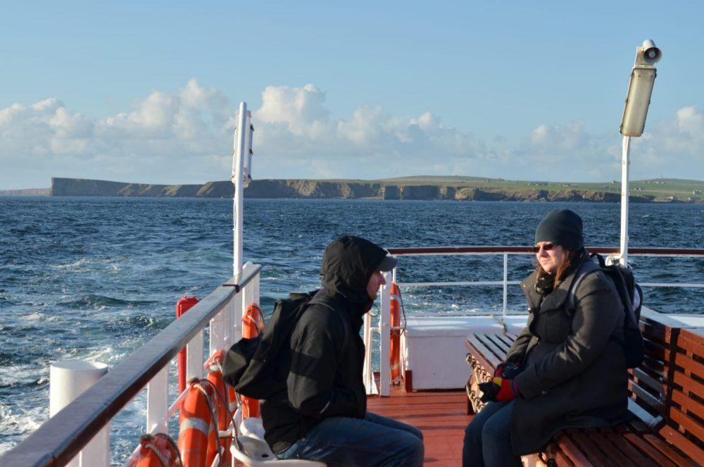 isole orcadi, arrivo in traghetto