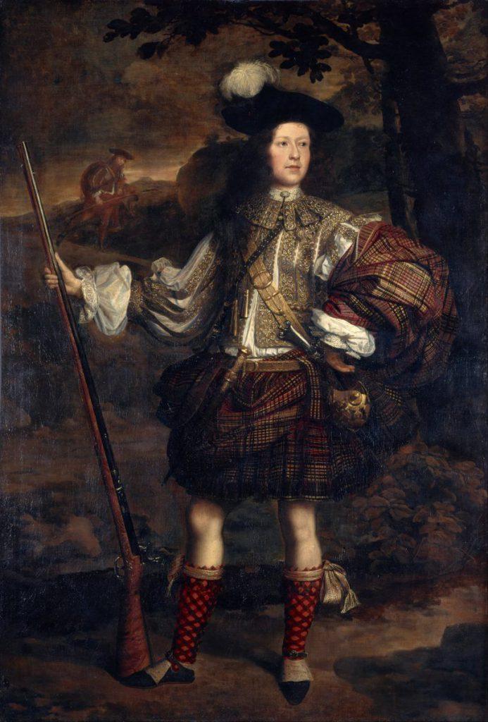 dipinto su tela di highlander