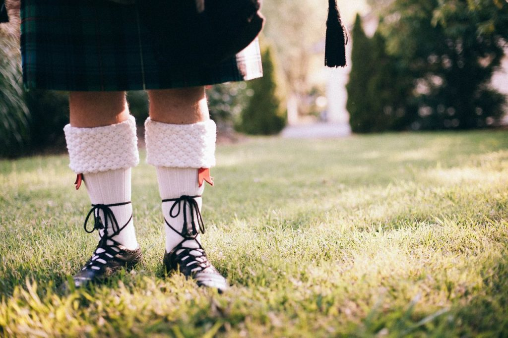 calzini e accessori del kilt