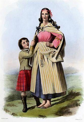 cosa indossano le donne scozzesi