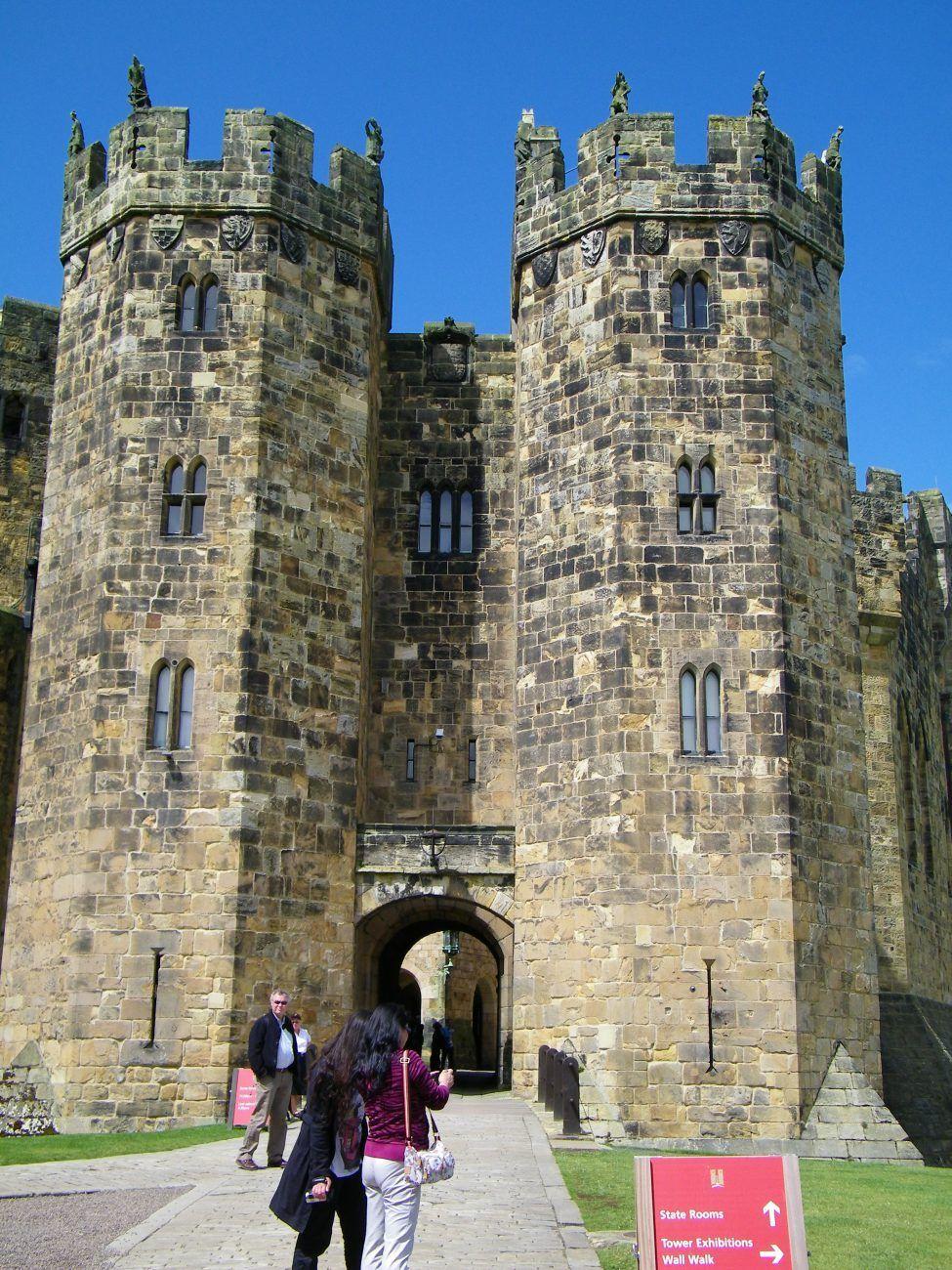 torri del castello di alnwick