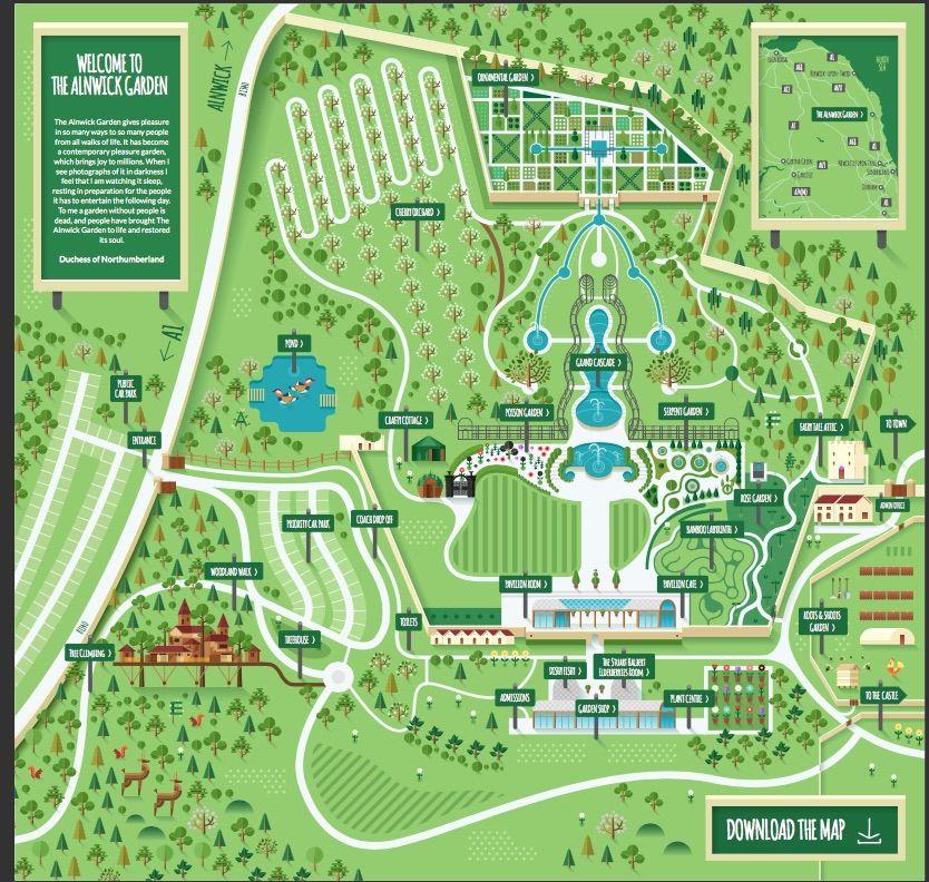 mappa del castello di alnwick