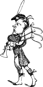 disegno di suonatore di cornamusa