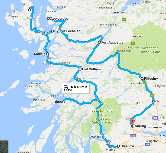 10 days in Scotland: trip starts from Glasgow