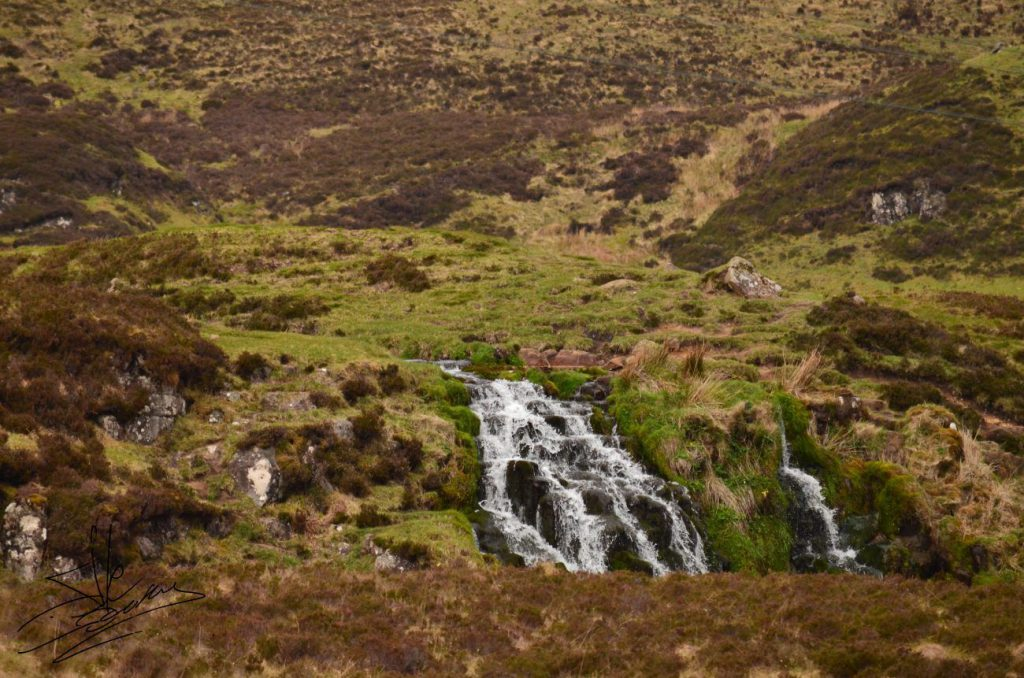 blackhill waterfall, cascata sull'isola di skye
