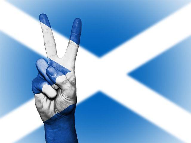 la bandiera scozzese, colore e forma