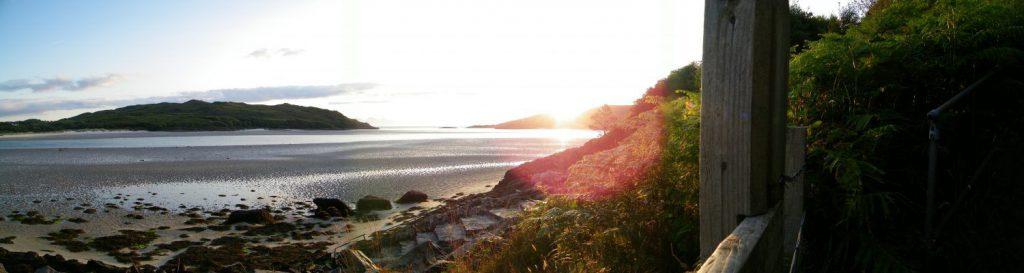 spiagga al tramonto
