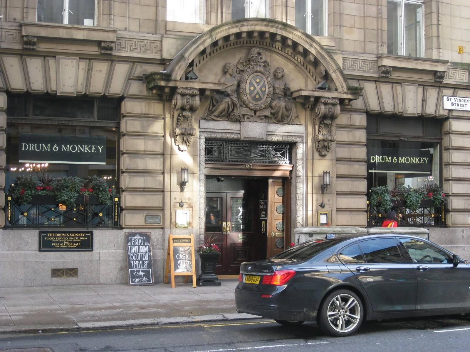 the drum and monkey - dove mangiare a glasgow