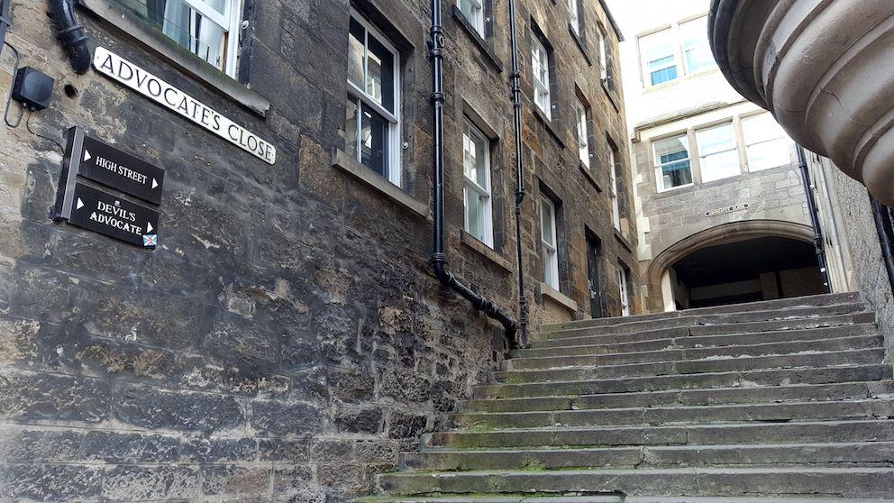 scalinata, edimburgo, close