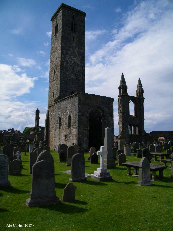 interno di cimitero con resti di edifici