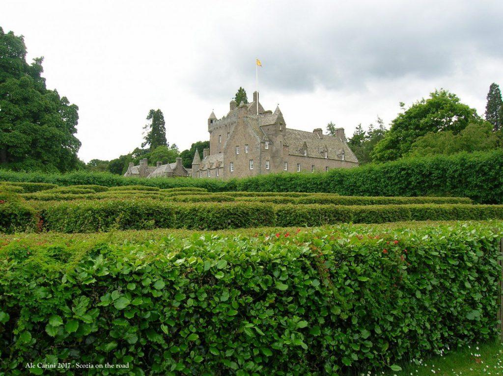 cawdor castle, labirinto, cielo, siepi