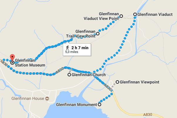 da Glenfinnan Viaduct Regno Unito a Glenfinnan Station Museum Google Maps