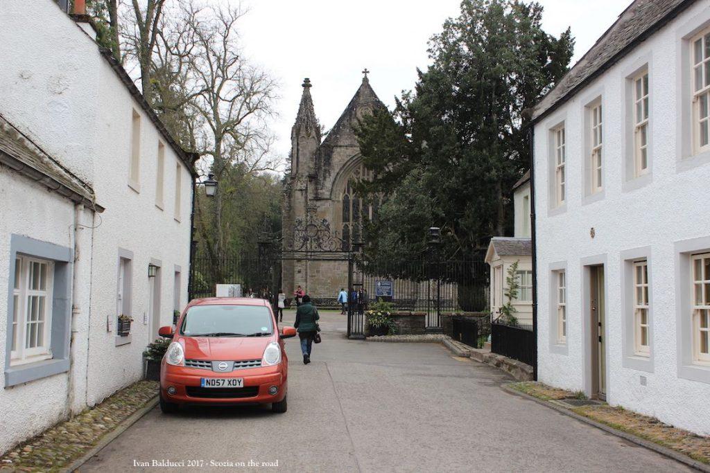 strada, auto, cattedrale