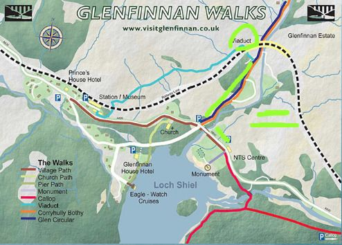 Glenfinnan A magic place to potter around and enjoy highland hospitality Local and area maps of Glenfinnan