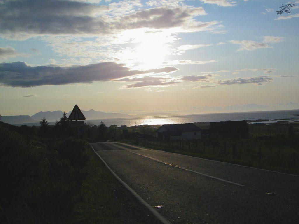 strada panoramica, tramonto