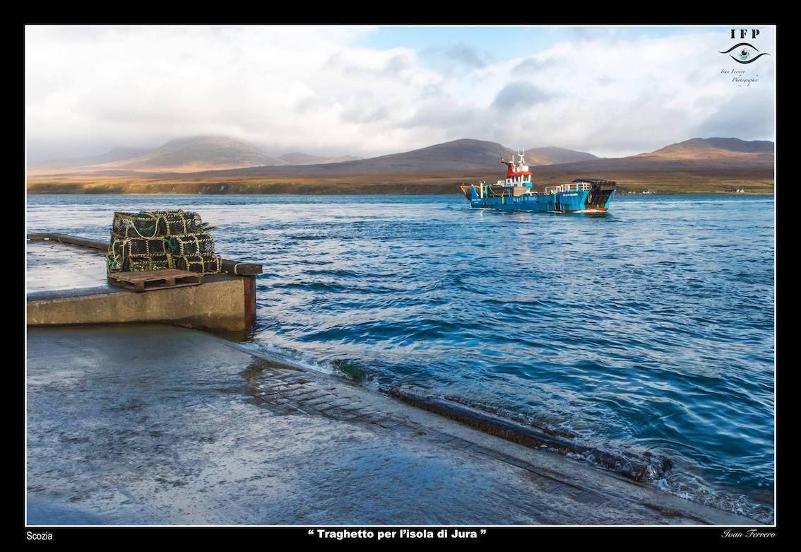 traghetto per l'isola di Jura Scozia