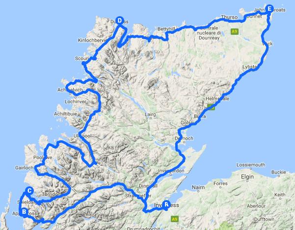 North Coast 500 Interactive Map