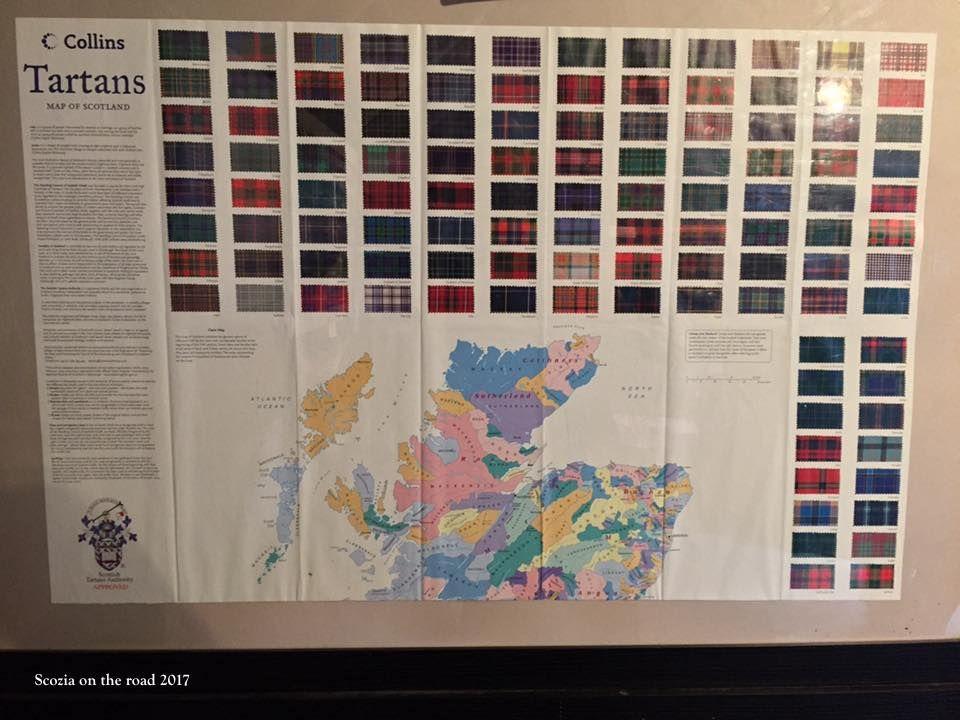 mappa clan scozia, colori clan scozzesi