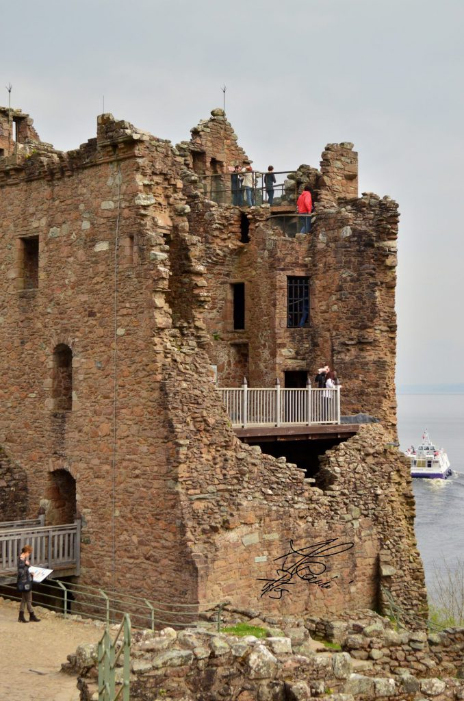 urquhart castle, balcone