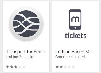 lothian bus app