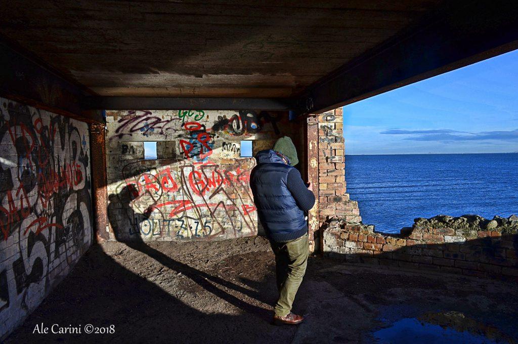 edificio abbandonato, bunker, mare