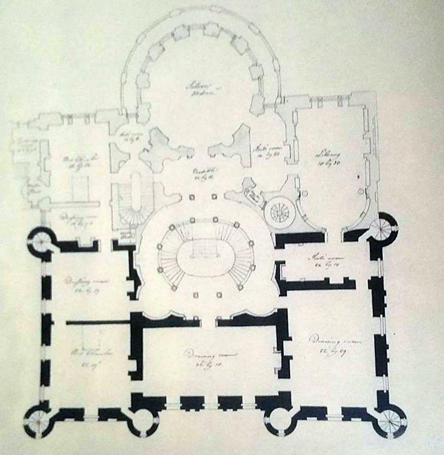 mappa, culzean castle, scozia