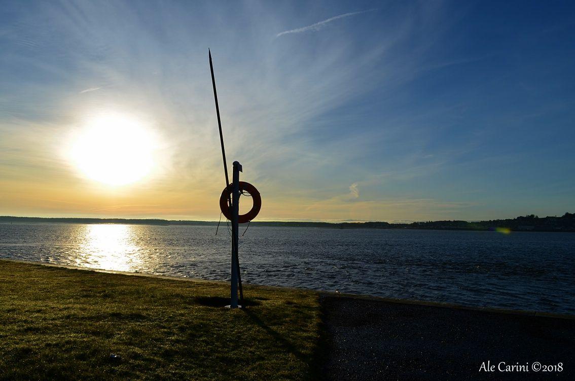viste sul mare al tramonto