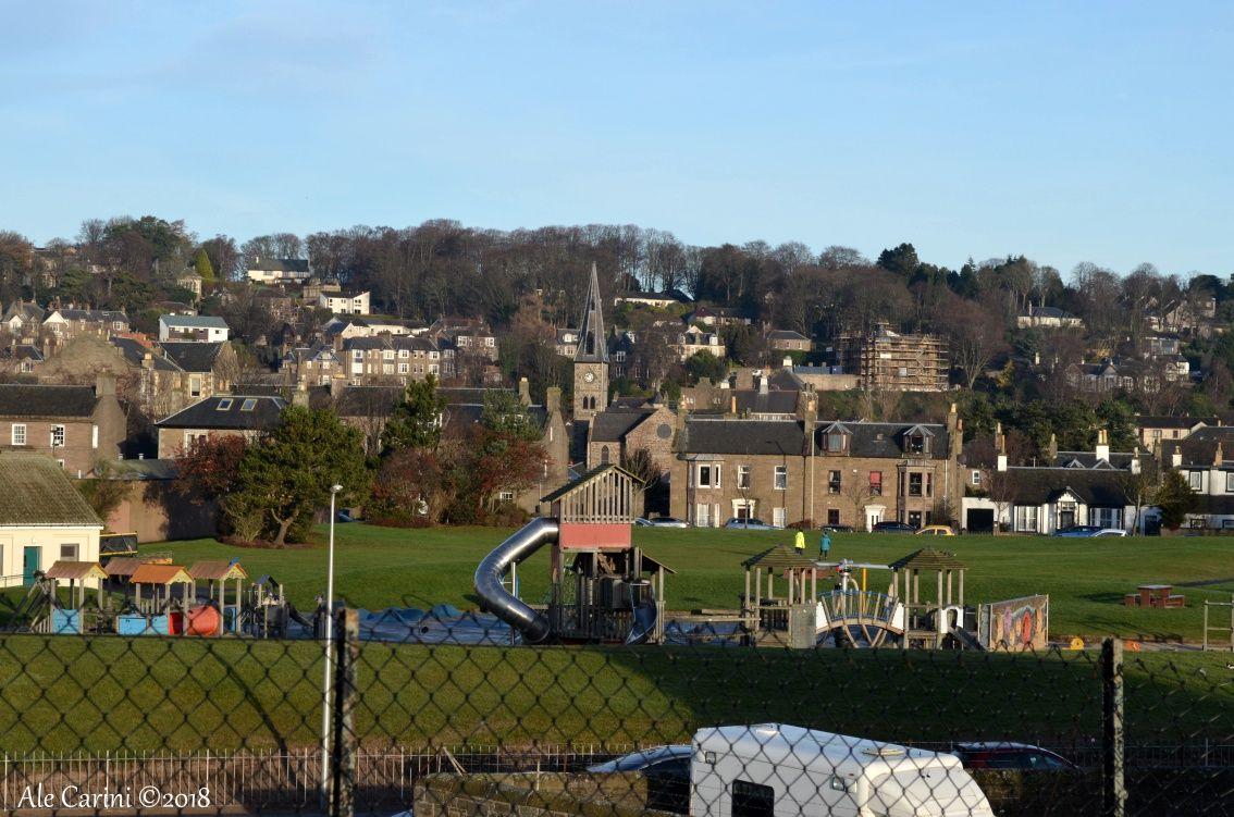 Broughty Castle vista su dundee