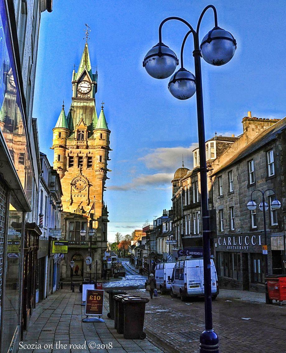 Dunfermline, scozia, via della città