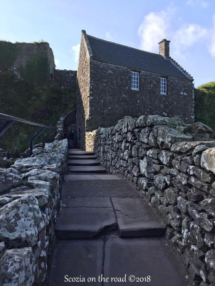 scale, ingresso, muro, castello
