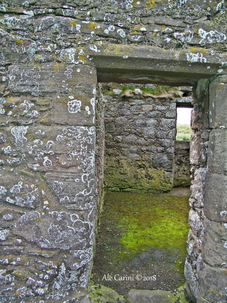 dunnottar castle, porte di pietra