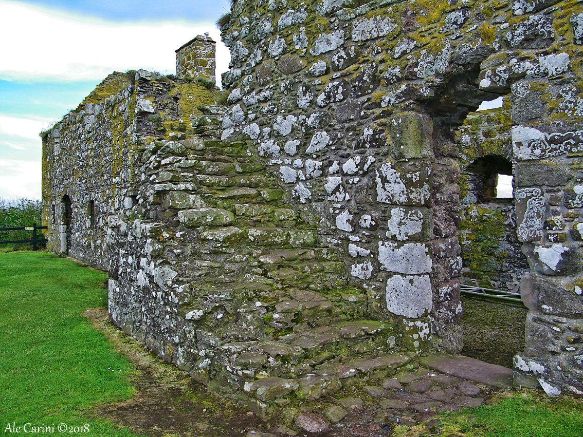 dunnottar castle, scalinata