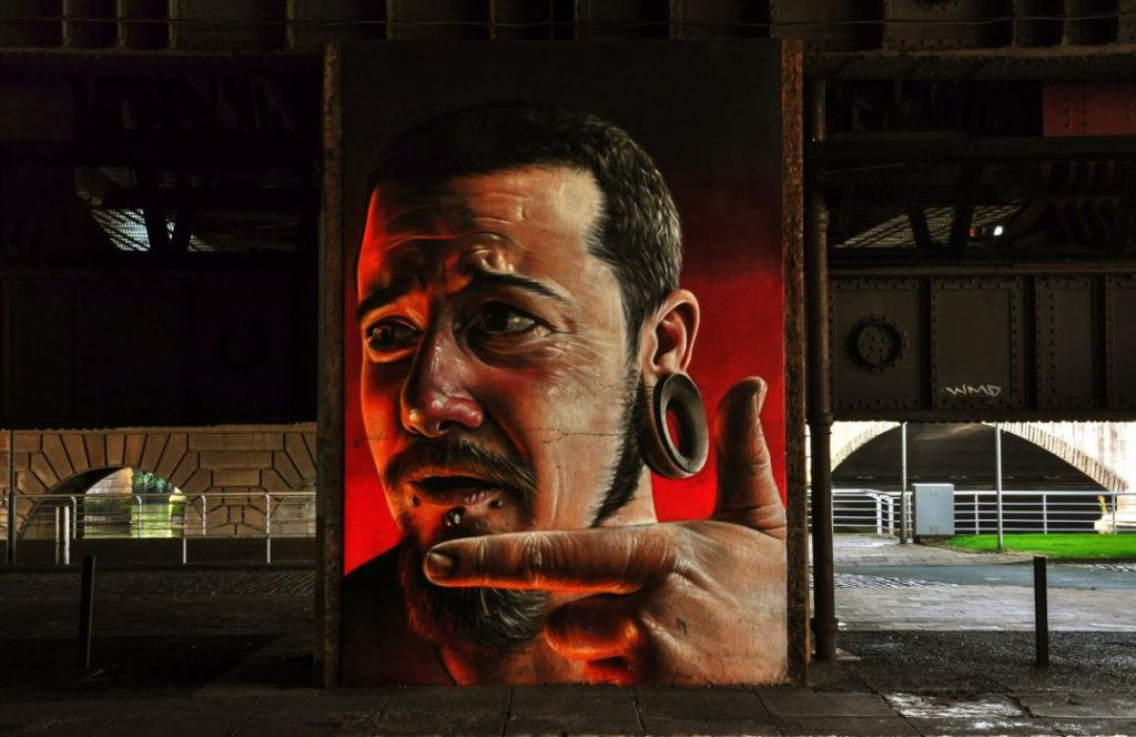 murales, uomo