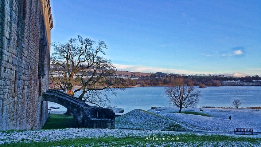 linlithgow, lago, neve,