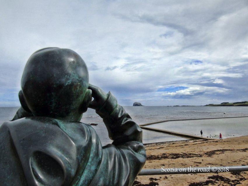 north berwich, statua, spiaggia