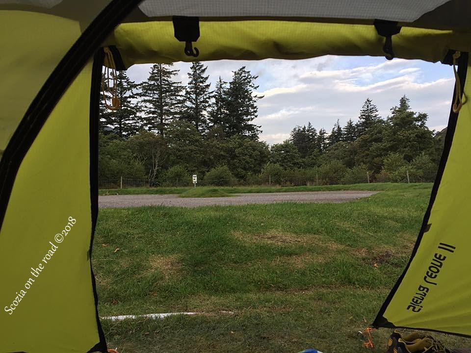 campeggio in scozia