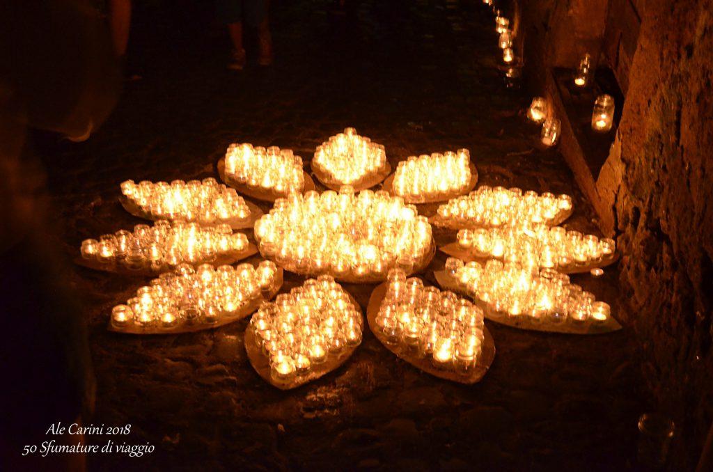 vallerano, festival candele