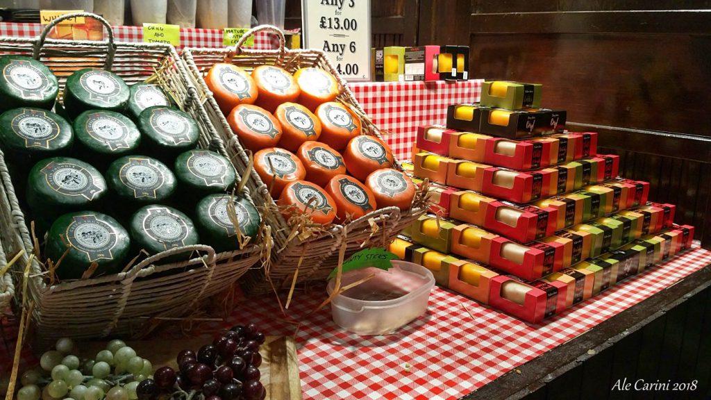 formaggio, mercatini di edimburgo