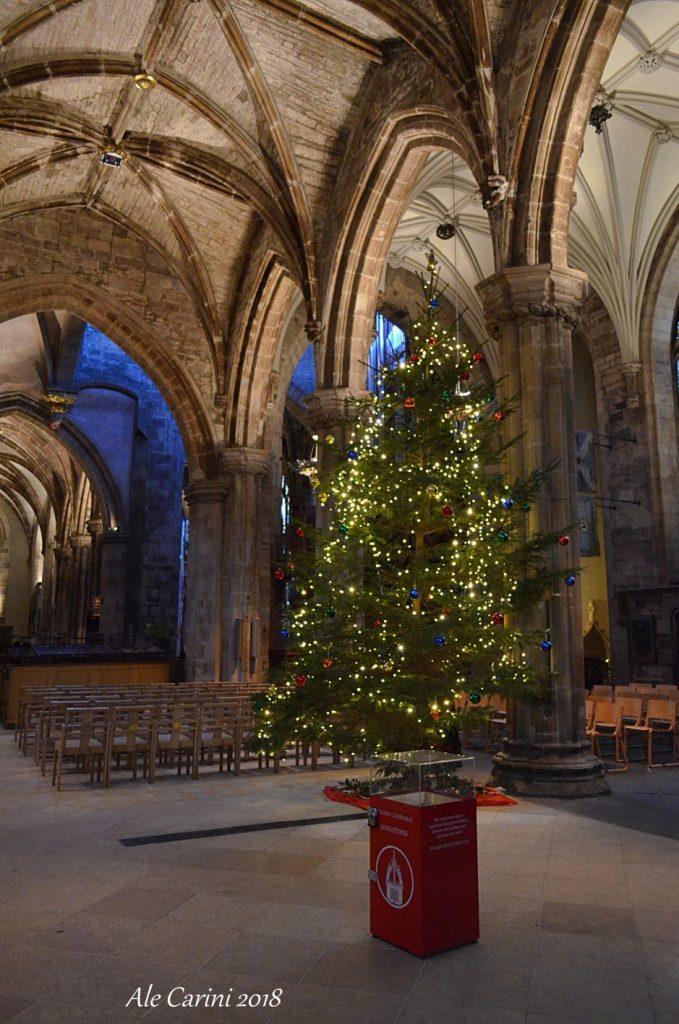 albero di natale, cattedrale di St Giles