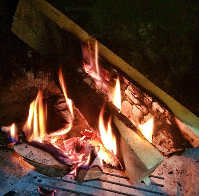 legna che brucia