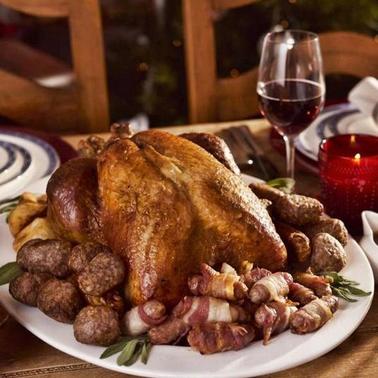 tacchino arrosto - Scozia a Natale cosa mangiare