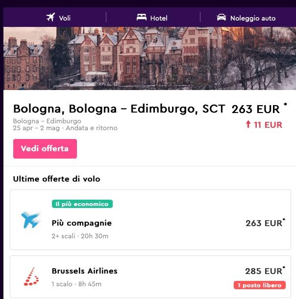 prenota un volo quando costa meno