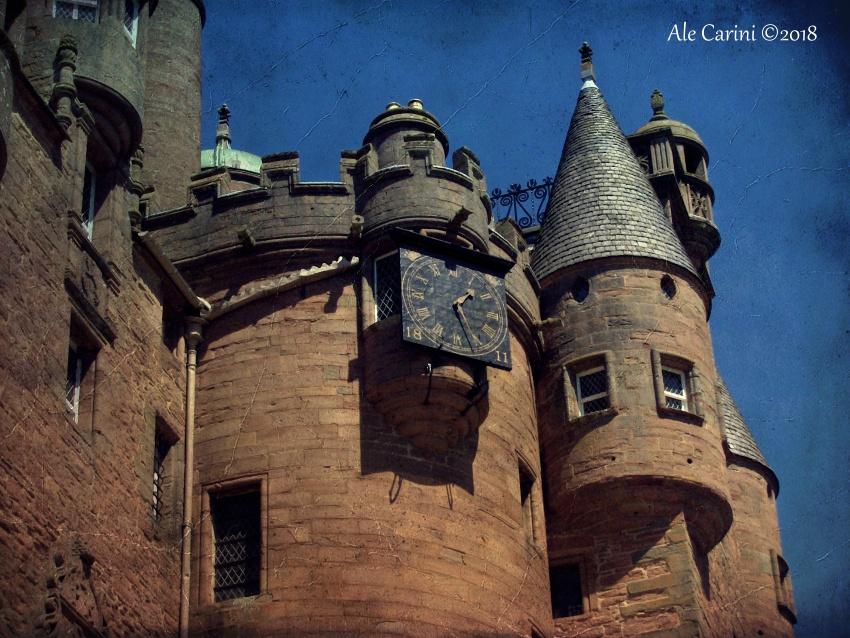 glamis castle scozia, la torre dell'orologio
