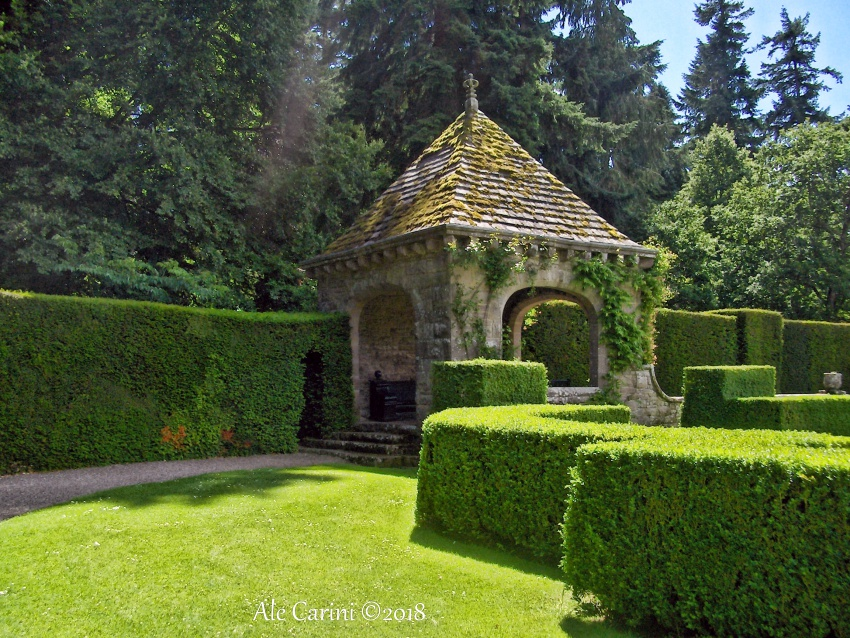 glamis castle, giardino italiano2