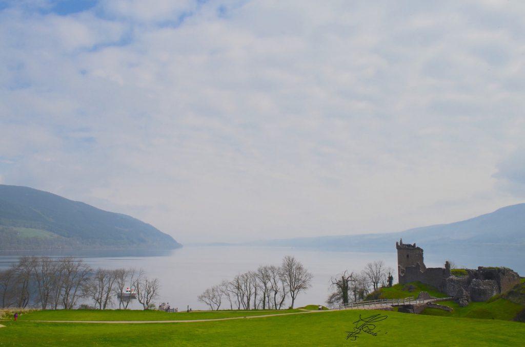 urquhart castle, scozia - vista lago
